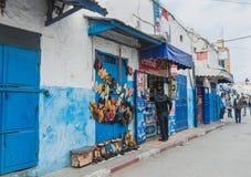 Saker för ett moroccan manköp på livsmedelsbutiken i Rabat Fotografering för Bildbyråer