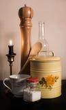 Saker från ett kök arkivfoto