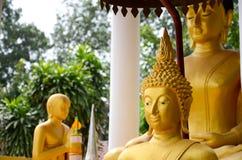 Saket寺庙的菩萨图象是古老佛教寺庙在万象 免版税库存图片