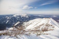 Sakhalin berg och vinter Royaltyfri Fotografi