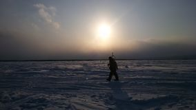Sakhalin Fisherman Stock Photography
