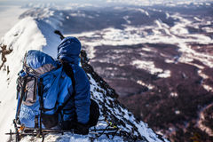 Sakhalin mountains and winter Stock Images