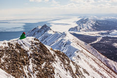 Sakhalin mountains and winter Royalty Free Stock Photography