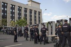 Sakharov-` s Aussicht Politische Sammlung für freies Internet, gegen das Blockieren des Botetelegramms polizei Stockfoto