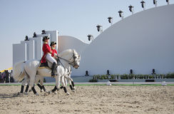 Sakhir, Bahrain il 26 novembre: Sho degli Stallions di Lipizzaner Fotografie Stock
