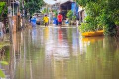 Sakhon Nakhon, Thaïlande - 4 août 2017 : Transportati de difficulté images stock