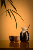 Saki Table Setting Royalty Free Stock Photo