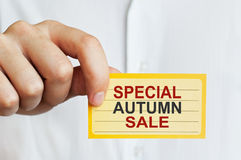 Sakkunnig Autumn Sale Royaltyfri Bild