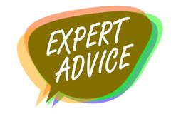 Sakkunnig rådgivning för ordhandstiltext Affärsidé för för Ace för expertis för Sage Good Word Professional åsikt omfattande idé  royaltyfri illustrationer