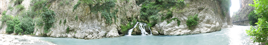 Saklikent gorge waterfall and river fethiye turkey Stock Images