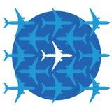 Saknat flygplan Fotografering för Bildbyråer