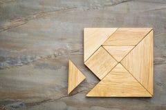 Saknat stycke i tangrampussel Royaltyfria Foton