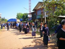 Sakon Nakhon Thailand March 2019 Buddhist rituals related to funeral deaths in rural Thailand. Sakon Nakhon Thailand March 2019 Buddhist rituals related to stock image