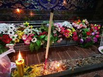 Sakon Nakhon Thailand March 2019 Buddhist rituals related to funeral deaths in rural Thailand. Sakon Nakhon Thailand March 2019 Buddhist rituals related to royalty free stock images