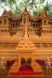 Sakon slut av buddistisk fastlagentradition. Arkivfoto