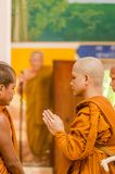 SAKONNAKHON,THAILAND December 23: Newly ordained Buddhist monk p Stock Image