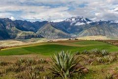 sakral dal Cusco region, Urubamba landskap, Peru Royaltyfria Bilder
