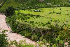 Sakral dal för Urubamba flod peru härligt dimensionellt diagram illustration södra tre för 3d Amerika mycket Inga personer arkivfoton