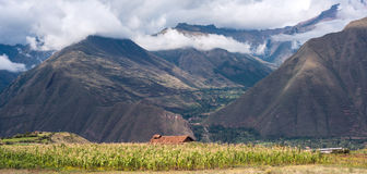 Sakral dal Urubamba i Peru Royaltyfri Bild