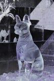 Sakral egyptisk katt av is royaltyfri bild