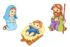 sakral familj royaltyfri illustrationer
