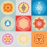 Sakral geomertyuppsättning Royaltyfri Fotografi