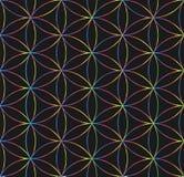 sakral geometri color vektorn för möjliga variants för modellen den olika royaltyfri illustrationer