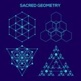 sakral geometri Hipstersymboler och beståndsdelar vektor illustrationer