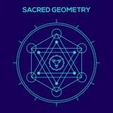 sakral geometri Hipstersymboler och beståndsdelar stock illustrationer