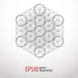sakral geometri Mystisk illustration för Metatron kub Royaltyfri Bild