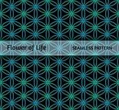 Sakral geometri, sömlös modell`-blomma av liv`, Arkivbild