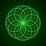 sakral geometri Symbol av harmoni Royaltyfri Illustrationer