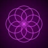 sakral geometri Symbol av harmoni Stock Illustrationer