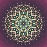 Sakral geometriblomma av livstid stock illustrationer