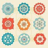 Sakral geometriblomma av livsymboler Royaltyfria Foton