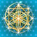 Sakral geometriblomma II stock illustrationer
