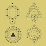sakral geometripacke vektor illustrationer
