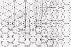 Sakral geometrisymbol- och beståndsdelbakgrund Royaltyfria Foton