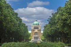 Sakral hjärta Parc Elisabeth Brussels Belg för basilika Arkivbild