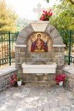 Sakral källa i kloster Rezevici i Montenegro Arkivbilder
