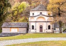 Sakral monteringsCalvary av Domodossola, Italien Arkivbilder