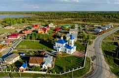 Sakral och Ilyinsky tempel Kilki Tyumen region Royaltyfria Foton