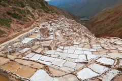 Sakral salt dal i Peru Arkivbilder