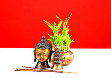 sakrala buddha Arkivfoto