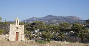 Sakrala Ekaterinas kyrka. Fortezzs fästning. Rethymno. Önolla Royaltyfri Fotografi