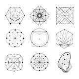 Sakrala geometriformer royaltyfri illustrationer