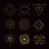 Sakrala geometriformer vektor illustrationer