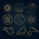 Sakrala geometriformer av linjer royaltyfri illustrationer