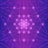 Sakrala geometrisymboler och beståndsdelar royaltyfri illustrationer