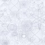 Sakrala geometrisymboler och beståndsdelar tapetserar den sömlösa modellen Fotografering för Bildbyråer